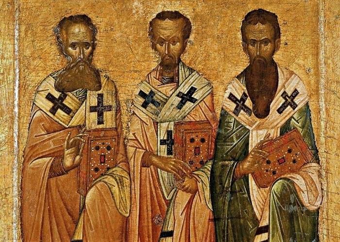 "Картинки по запросу ""Три Святителя  византийские фрески и иконы"""